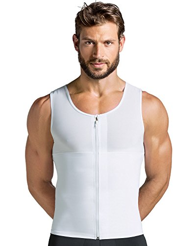 Leonisa Leo Men's Abs Slimming Body Shaper with Back Support