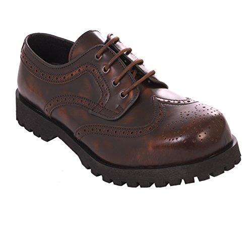 Boots & Braces Halbschuh Budapester Rub Off braun