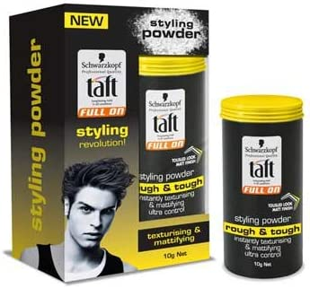 Amazon Com Schwarzkopf Taft Full On Styling Powder Rough Tough 0 35 Oz 10 G Best Men Hair Styling Ship With Tracking Number Everything Else