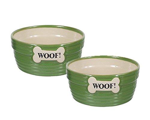 - DEI Ceramic Ribbed Woof Embossed Dog Bone 6