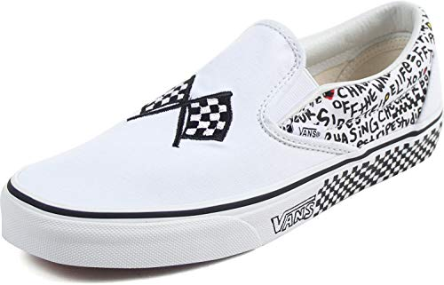Vans Unisex Classic (Checkerboard ) Slip-On Skate Shoe (Diy) Black/True White