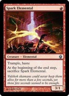 Magic: the Gathering - Spark Elemental - Premium Deck Series Fire & Lightning - Foil