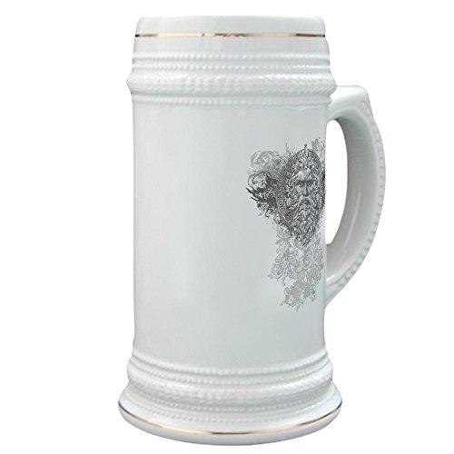 Stein (Glass Drink Mug Cup) Look Like a Greek God