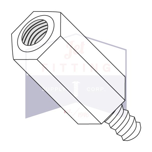 Length: 1 1//2 1//4 OD Hex Standoffs Made in USA // 6-32 x 1 1//2 // Nylon//Outer Diameter: 1//4 Male-Female Quantity: 1,000 pcs Thread Size: 6-32