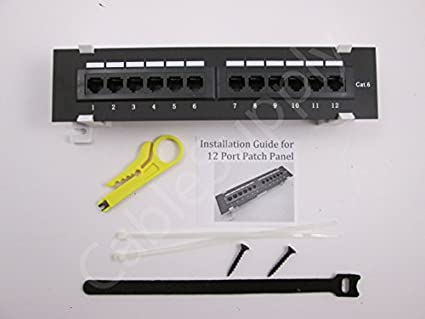 Cat6 Patch Panel by CableSupply.com | 12 Port, RJ45, Wall Mount ...