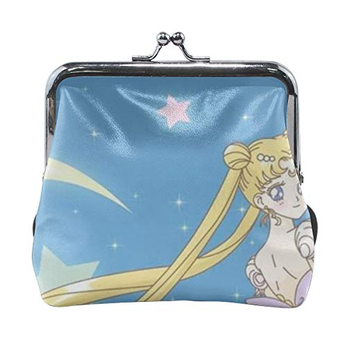 Classic Exquisite Elegant Sailor Moon Microfiber Leather Buckle Coin Purse -