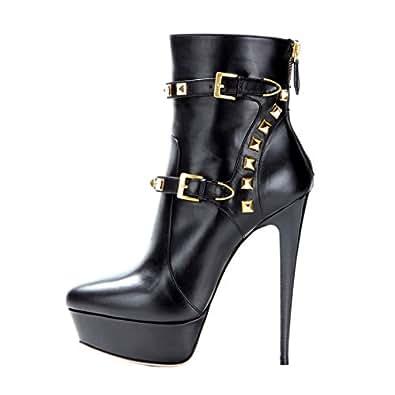 Amazon.com   onlymaker Women's High Heel Winter Boots