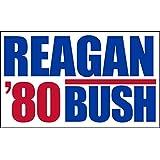 American Vinyl Vintage Reagan Bush 80 Bumper Sticker (Election Political Logo)