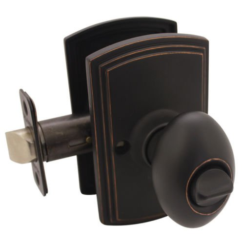Doors & Door Hardware Canova Design Italian Collection Oil Rubbed Bronze Privacy Door Lever ()