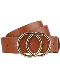 """Women's Leather Belt Fashion Soft Faux Leather Waist Belts For Jeans Dress 1 1/4"""" Width"""