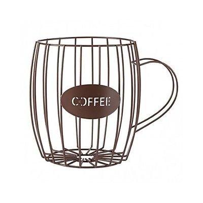 Coffee Pod Holder Keurig K-Cups Kitchen Mug Storage Basket Counter Organizer Bin