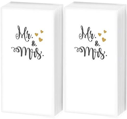 20 zakdoeken (2×10) Mr. & Mrs. | Freudentränen | bruiloft | cadeau