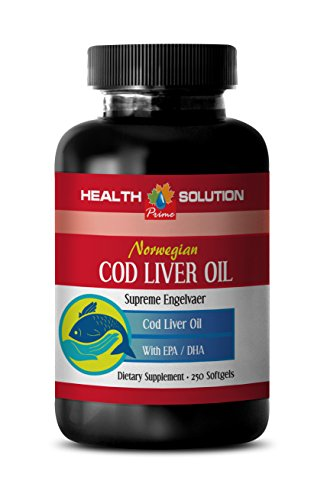 Joint support - NORWEGIAN COD LIVER OIL with Vitamins A & D3/EPA & DHA - Norwegian cod liver oil pills - 1 Bottle 250 Softgels by Health Solution Prime