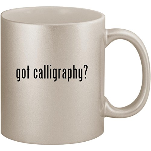 Silver Arabic Markers - got calligraphy? - 11oz Ceramic Coffee Mug Cup, Silver