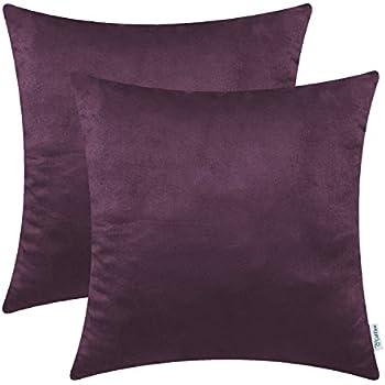 amazon com home brilliant solid shiny soft velvet square cushion