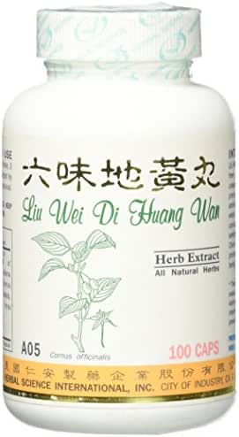 Super 6 Kidney Tonic Dietary Supplement 500mg 100 capsules (Liu Wei Di Huang Wan) A05 100% Natural Herbs