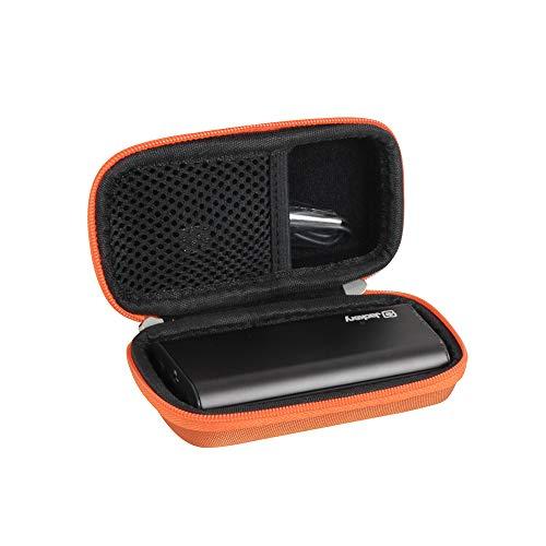 Hermitshell Protective Hard Travel Case Fits Portable Charger Jackery Bolt 6000 mAh Power Bank (Orange)