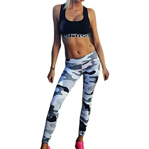 Pantalón ASHOP Camuflaje Cintura Cintura Estilo de Pantalones de Cordón Boho Ocio Mujer de de Camuflaje Impreso Jeans Pantalones Alta Yoga Leggings Vaqueros Fitness fW5B6qnPw