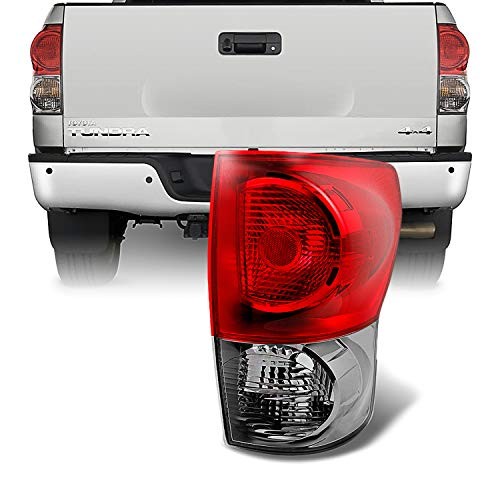 Tail Lamp Pickup Light - For Toyota Tundra Pickup Truck Red Clear Tail Light Rear Brake Lamp Passenger Right Side Replacement