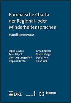 Europaische Charta Der Regional- Oder Minderheitensprachen: Handkommentar