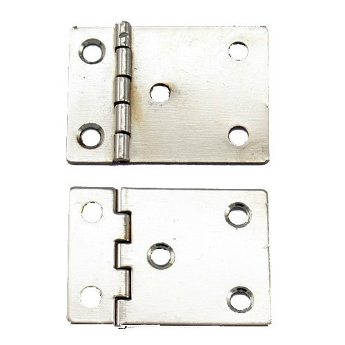 A322 - 1'' Width X 1 1/2'' Height Reverse Binder Hinge, Nickel Finish - 1 Pair (Hinge Reverse)