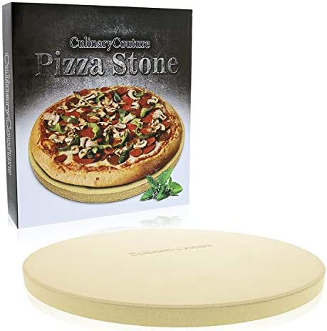 Pizza Stone for Grill and Oven – 15 Inch 3 4 Extra Thick – Cooking Baking Stone for Oven and BBQ Grill – With Durable Foam Packaging, Gift Box Pizza Recipes EBook