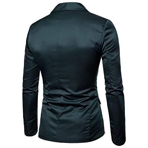 Jacquard Costume Slim Loisirs Fit Décontracté Shawnlen Blazer Pour Élégant Homme Vert Mariage 8pS75q