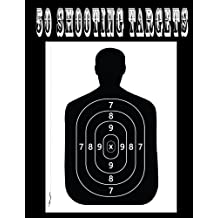 50 Shooting Targets 8.5 X 11 - Silhouette, Target or Bullseye: Great for All Firearms, Rifles, Pistols, Airsoft, BB & Pellet Guns