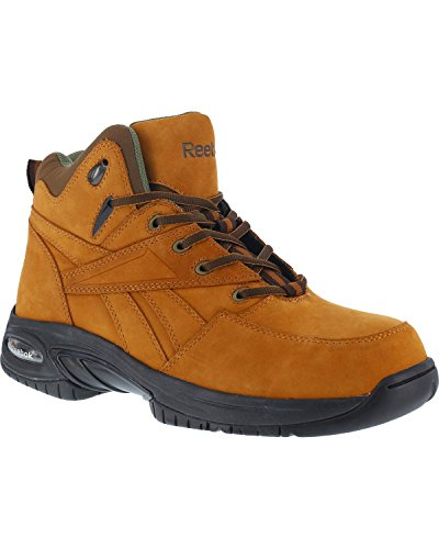Reebok Mens Tan Leather Athletic Hi Top Hiker Boots Tyak ...