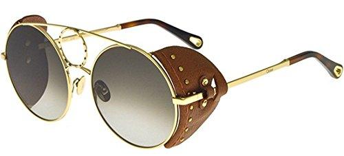 Gafas de Sol Chloé Sierra CE148SL Gold/Olive Green Grey ...