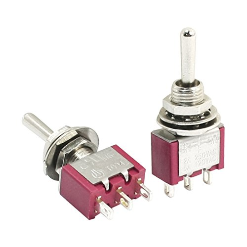 Way SPDT Momentary Toggle Switch AC250V 2A 120V 5A (6 Mm Toggle)