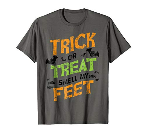 Trick or Treat Smell My Feet Shirt Funny Kids Halloween Gift]()