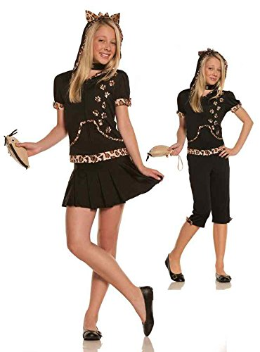 UHC Teen Elegant Moments Girl's Feline Sassy Cat Kitten Kitty Party Costume, JR S/M (1-3) -