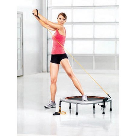 """Gold's Gym 36"""" Circuit Trainer Sports and Fitness Mini Trampoline with Electronic Monitor"""