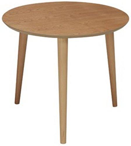 弁天インテリア 高質感 木製円形カフェテーブル ラウンドテーブル ナチュラル B06Y696LD3  ナチュラル