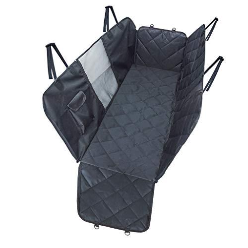 UMFun Dog Pet Car Seat Covers Mesh Window Car Pet Pad Waterproof Car Rear Seat Dog Pad Black]()