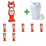 Brush Buddies, Poppin', Toothy Toby Tiger, Soft, 1 Toothbrush(8 Packs)+ Assorted Sundesa, BlenderBottle, Classic With Loop, 20 oz