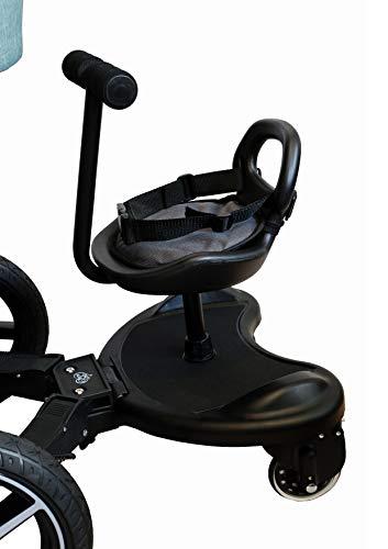 Buggy Board Kiddy Trittbrett mit Sitz für Kinderwagen Rollbrett NEU