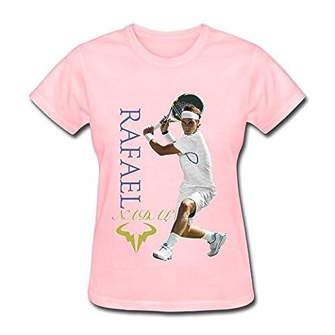 FHY Women's Rafael Nadal U.S. Open 2015 T-shirts Small Pink (Cool Calenders 2015)