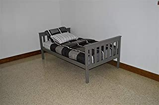 product image for DutchCrafters Amish Kids Twin Mission Bed (Paint - Olive Gray)