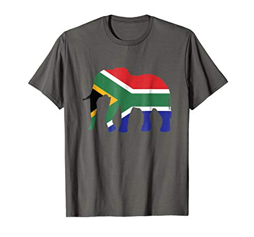 a T-Shirt African Flag Wild Safari Gift ()