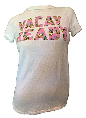 Junk Food Womens Printed Vacay Ready T-Shirt White L
