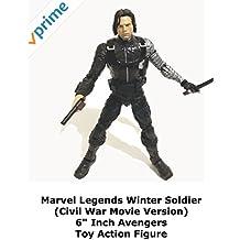 "Review: Marvel Legends Winter Soldier (Civil War Movie Version) 6"" Inch Avengers Toy Action Figure"