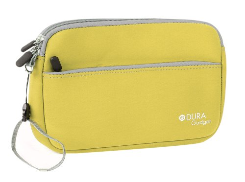 DURAGADGET Seagate Personal Cloud (STCR3000200, 3TB) / Seagate Personal Cloud (STCR4000200, 4TB) Case - Yellow Neoprene Zipped Pouch With Front Storage Compartment For Seagate Personal Cloud HDD's