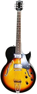 Guitarra eléctrica de jazz y blues – Media caja – Color sunburst ...