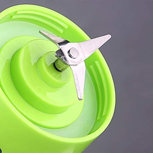 SZXCX 4 Cuchillas Mini USB Recargable portátil eléctrico exprimidor de Frutas batidora licuadora Botella Deportiva Taza de Jugo - Verde