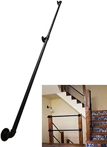 JHSHENGSHI Las barandillas de Hierro Forjado - Kit Completo de Metal, por Escaleras Barandilla Cubierta Escalera Exterior Negro Escalera barandilla barandilla pasamanos, Antideslizante: Amazon.es: Deportes y aire libre