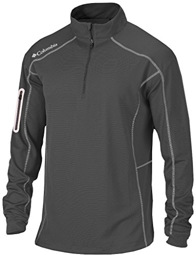 Columbia Mens Omni-Wick Shotgun 1/4 Zip Pullover Charcoal XL