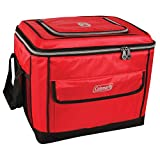 Coleman Soft Cooler Bag   Collapsible Design for Easy Storage   40 Can Cooler, Red