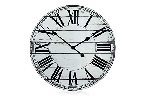 Roman Numerals Oversized Shabby Style Kitchen Clock